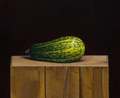 James Fairgrieve  Reclining Gourd  Acrylic On Gesso On Canvas On Board 30 5 X 30 5 Cm £1995 00