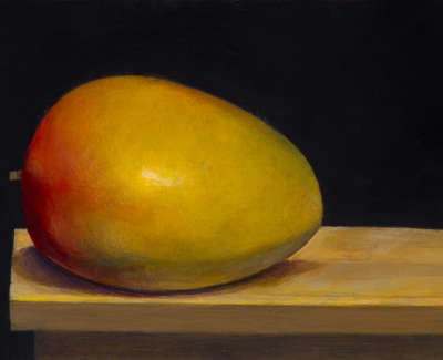 James Fairgrieve  Ripe Mango  Acrylic On Gesso On Board 14 5 X 20 Cm £1200 00