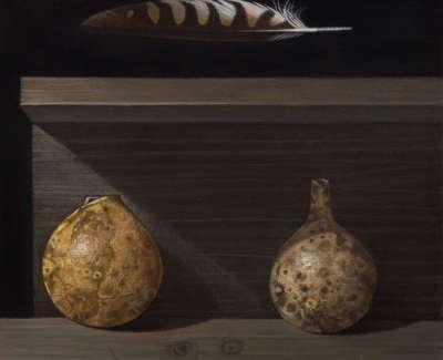 James Fairgrieve  Shaded Gourds  Acrylic On Gesso On Canvas 30 5 X 30 5 Cm £1995 00
