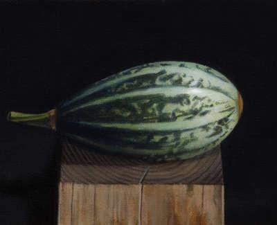 James Fairgrieve  Sleeping Gourd  Acrylic On Gesso On Canvas On Board 14 5 X 20 Cm £1200 00