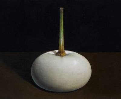 James Fairgrieve  White Gourd  Acrylic On Gesso On Canvas On Board 14 5 X 20 Cm £1200 00