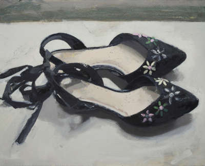 Janice Galloways Shoes  Oil On Board 23 X 34 Cm £1300 00
