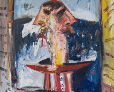Janus Perth Australia Oil On Canvas 1983