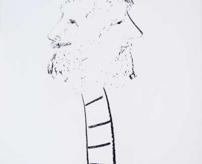 Janus Charcoal On Paper 1983 78X58Cm 1