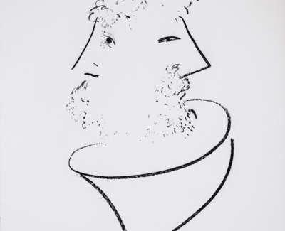 Janus Charcoal On Paper 1983 78X58Cm