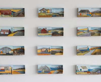 Jayne Stokes ' Hebridean' Acrylic Collage And Found Objects In Scottish Souvenir Matchboxes 40 X 50Cm £800 00