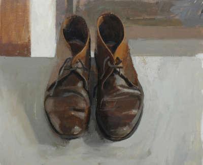 John Byrnes Shoes  Oil On Board 33 X 38 Cm £1800 00