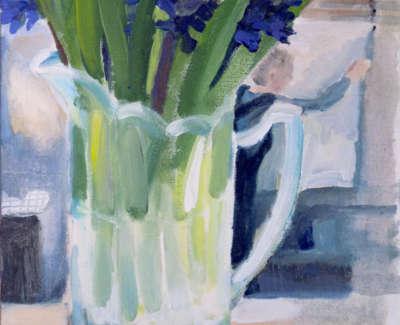 Jug And Hyacinths Web