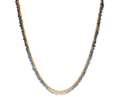 Kate Wood Ombré Sapphire Row Necklace