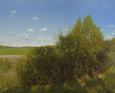Keith Epps Landscape With Shadows Oil 70 X 90 Cm