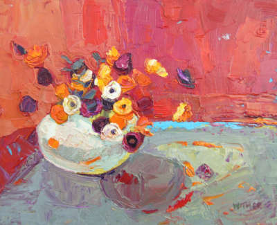 Kirsty Wither Vibrant Selection Oil On Board £425 00Web