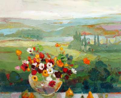 Kirsty Wither Golden Pears 30X30In £4950