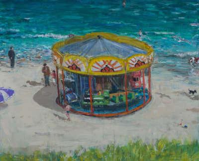 Kondracki Carousel  Acrylic On Canvas 127 X 142 Cm £6000 00