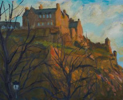 Kondracki Castle Sunset Oil On Canvas 24 X 30 Cm £800 00