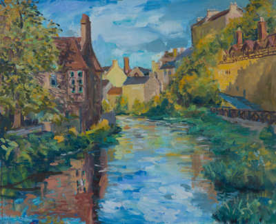 Kondracki Dean Village  Oil On Canvas 117 X 145 Cm £5500 00
