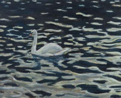 Kondracki Swan  Mixed Media On Canvas 89 X 122 Cm £4200 00