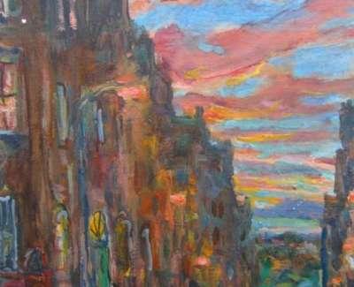 Kondracki Warm Sky And Street Sceneweb