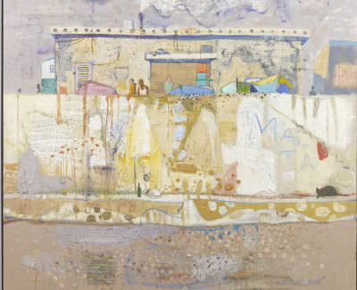 Leon Morrocco Rsa Rgi Sea Wall Valletta Oil On Board 153 X 154 Cm