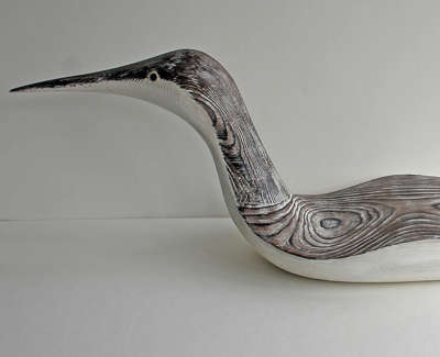 Loon Carved And Constructed Wooden Sculpture 23 X 76 X 21 Cm