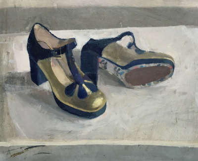 Louise Welshs Shoes  Oil On Board 30 5 X 40 5 Cm £1400 00