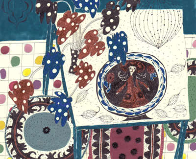 Lunch With Thomas Toft Gouache And Pen On Paper 19 X 19Cm £195