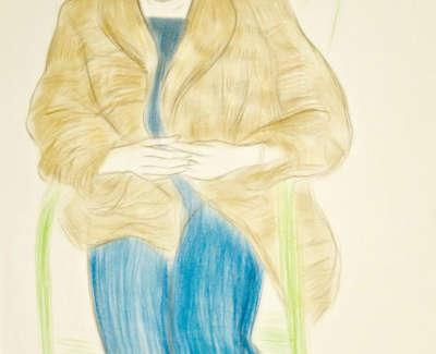 Lynda Myles In Fur Jacket