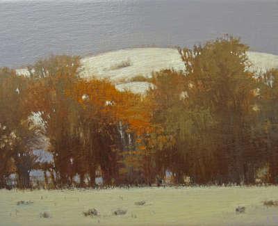 Lynne Windsor  Snow Above Lindsaylands  Oil On Birch Panel 15 X 21 Cm £510 00