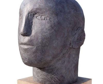 Mans Head Bronze Edition 1 Of 5 29 X 43 X 34 Cm £9500