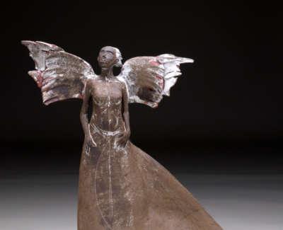 Moth Woman Stoneware 36Cm H