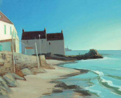Neil Macdonald Pai Rgi Rsw  The Golden Hour Pittenweem  Oil On Panel