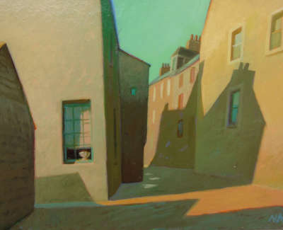 Neil Macdonald Rsw Rgi Pai  Windows Stromness  Oil On Board 15 X 21 Cm £435 00