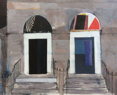 New Town Doorways 16 X 22 Cm £325