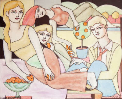 Orange Eaters Oil On Canvas 80 X 100 Cm 12000