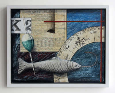 Orkney Mixed Media On Board Wall Hung 37 X 45 Cm