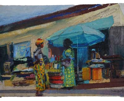 Ouidah Street Sketch