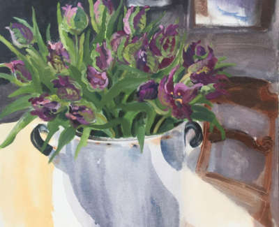 Parrot Tulips And Lapwing 6