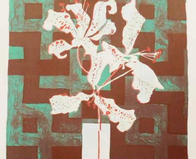 Patrick Procktor Lilies