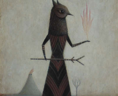 Paul Barnes The Sorceress  Acrylic On Board £650 00
