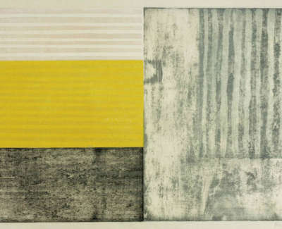 Paul Furneaux Untitled Yellow £900 Framed Mokuhanga From Edition Of 10