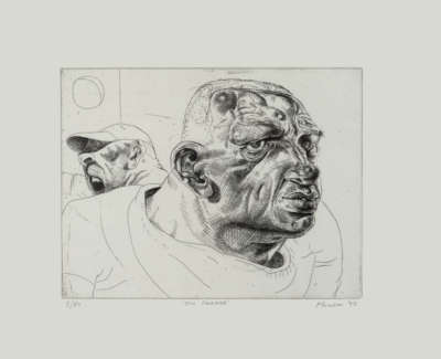 Peter Howson Obe On Parade Etching 1992 From An Edition Of 50 In The Collection Of The Metropolitan Museum Of Art New York 25 X 33 Cm £1400 00