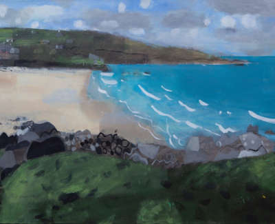 Porthmeor St Ives Mixed Media On Canvas 80 X 120 Cm £6500