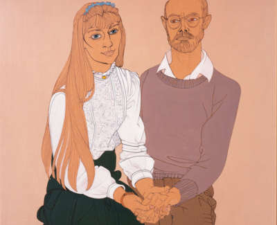 Portrait Of Scott Pearson And Angela Ink And Acquatint On Brown Paper 1995 59 X 60 Cmweb