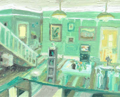 Robbie Bushe Rsa  Hallway Glenburn House Tornaveen  Oil On Panel