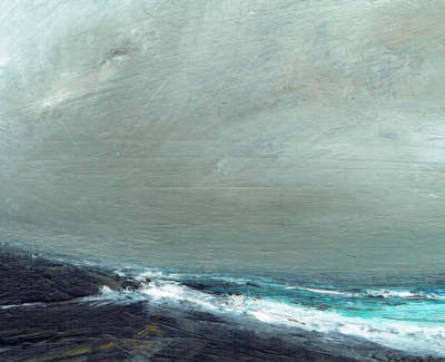 Ruth Brownlee  Storm Burra  Mixed Media On Board