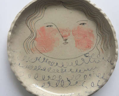 Rebecca Brown  Flush  Speckled Stoneware Clay 24 Cm D