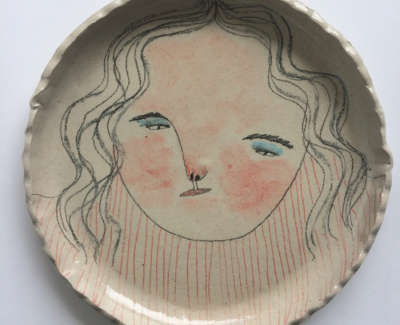 Rebecca Brown  Greys  Speckled Stoneware Clay 24 Cm D