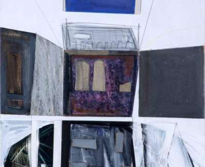 Restall Revealed Catacombs Acrylic Collage 2009 61 X 43 Cm Web
