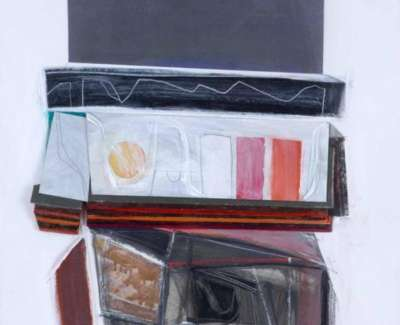 Restall Revealed Section Acrylic Collage 2009 61 X 43 Cm Web