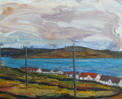 Ruth Nicol  The Beach From Sodom Whalsay  Acrylic On Panel £200 00Web