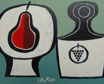 Simon Laurie Rsw Rgi Red Pair  Oil On Board £350 00